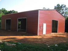 Red Building Side View